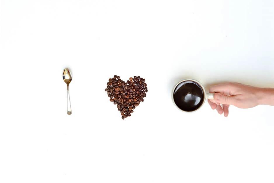 Love beans caffeine coffee